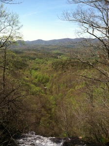 View from top of Amicalola Falls (Hike Inn)