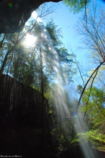 Underneath East Bee Branch Falls