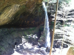 Chet under the falls