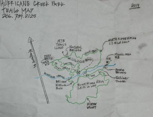 Hand drawn trail map