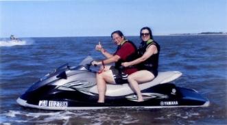 Jetskiing off Tybee Island