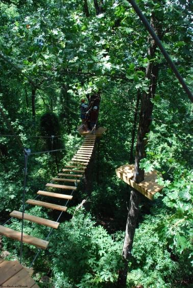 Zipline course at Lake Guntersville State Park
