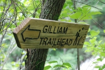 Gilliam Trailhead sign