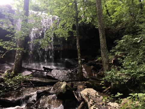 Chet photographing Lodge Falls