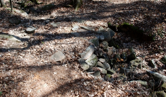 Stone fill over dry creek