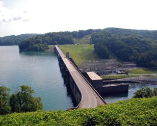 Norris Dam from the west