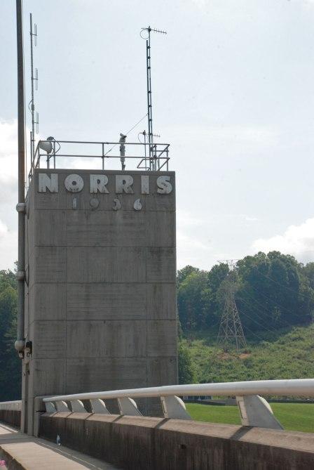Norris Dam sign