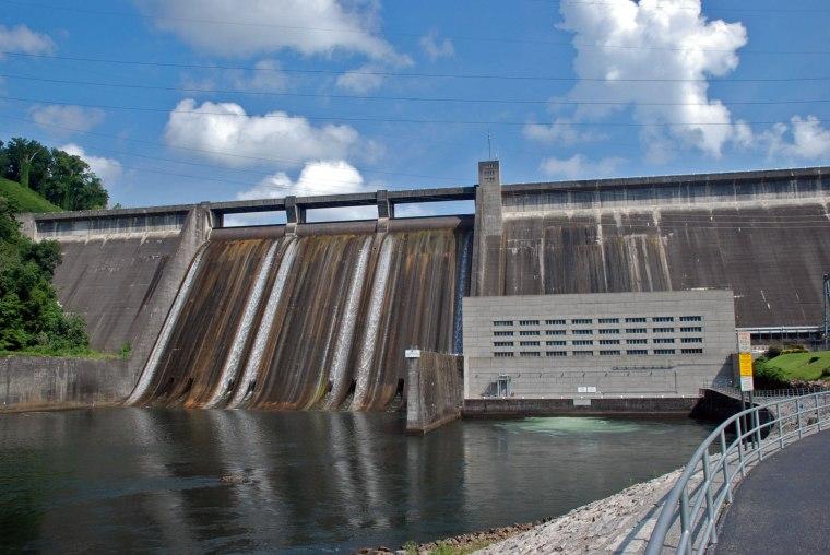 Norris Dam from below