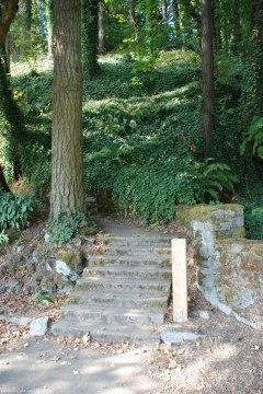 Stairs up to Washington Park